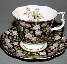 Royal Albert - Black Chintz - Special Collections www.royalalbertpatterns.com - Alton