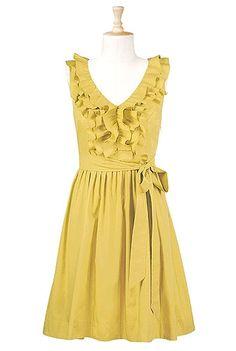 @Jordan Bromley Bromley Morris Ruffle front poplin dress? my-style