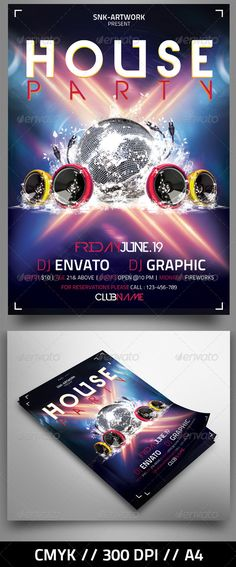 Massive #Party #Flyer - Clubs & Parties #Events Download here: https://graphicriver.net/item/massive-party-flyer/4576023?ref=alena994