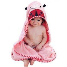 Suntasty 90X90Cm 7 Colours Cartoon Animal Face Hooded Woven Terry Baby Bath Towel Bathrobe (Pink Beetle)