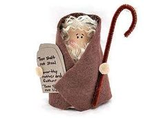 Small Yarn crafts - Cardboard Tube Moses craft for kids Sunday school, bible school