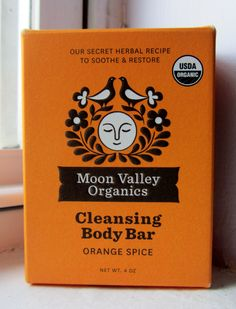 Moon Valley Organics Orange Spice Cleansing Body Bar