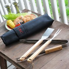Gift idea: Personalized Backyard Barbecue Grill Set. #GiftIdeas HomeDecorators.com