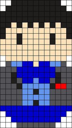 2nd Doctor Perler Bead Pattern / Bead Sprite