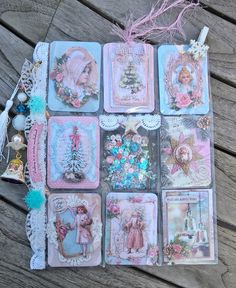 Pocket letter made with shabby chic papers and paper cuts from Studio Light