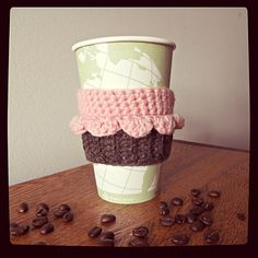 Free cupcake coffee cozy correction to this pattern. Step number four for the wrapper should read: