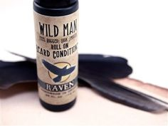 Wild Man Beard Conditioner Raven - Roll On - // Natural Beard Oil, Beard Conditioner, Man Beard, Beard Grooming, Beard No Mustache, Beard Care, Bearded Men, Raven, Shaving