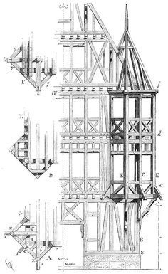 Timber-framed bartizan