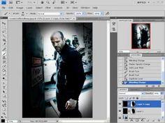 photoshop tutorial cenima effect  (movie poster)