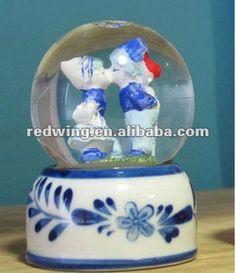 Ceramic Wedding Snow Globe