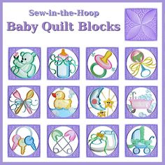 Baby Quilt Blocks Collection - Machine Embroidery Designs