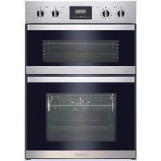 Baumatic BOD890SS Nine Function Electric Built-in Double Oven Stainless Steel
