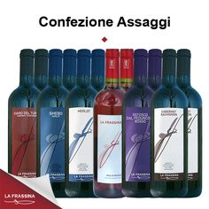 Confezione Assaggio da 12 bottiglie | La Frassina - Vendita online vini rossi e rosati. Oltre 20 euro di sconto!