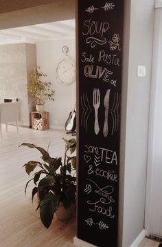 Zelfgemaakt keuken-krijtbord