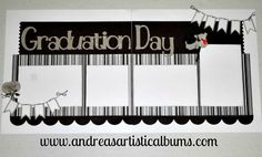 Graduation premade 2 page scrapbook layout