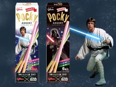 Pocky Is Finally Available in Lightsaber Form ...OH MY GOD OH MY GOD OH MY GOD I NEED THIS!!