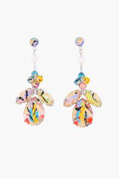 Tom Binns Yellow Painted Quiet Riot Earrings for women | SSENSE