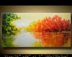 contemporary wall art Palette Knife by ANDYARTSTUDIO on Etsy