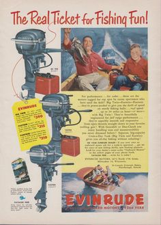 57 Best Vintage Evinrude Outboard Motor Ads images in 2017