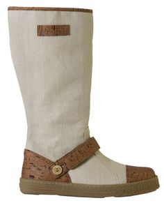 Vegan boots made from organic hemp and cork by super sustainable brand Po-Zu.