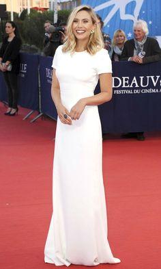 Elizabeth Olsen Is Breathtaking In White At The Deauville Film Festival