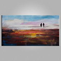 Bedroom Wall Art, Love Birds Painting, Abstract Painting, Canvas Painting, Abstract Art, Canvas Art, Wall Art, Original Painting, 443