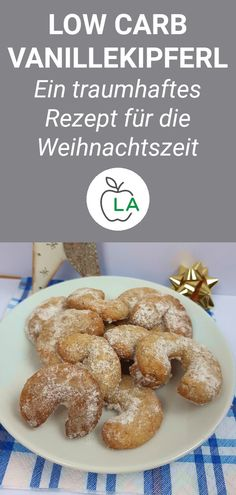Low Carb Vanillekipferl – Kekse zum Abnehmen These low carb vanilla crisps are sugar free and therefore the perfect biscuits to lose weight. Here's the complete recipe for Christmas and many helpful tips for your low-carbohydrate diet. Appetizer Dishes, Low Carb Appetizers, Low Carb Desserts, Low Carb Recipes, Appetizer Recipes, Paleo Dessert, Low Carb Cheesecake Recipe, Low Carb Ice Cream, No Sugar Diet