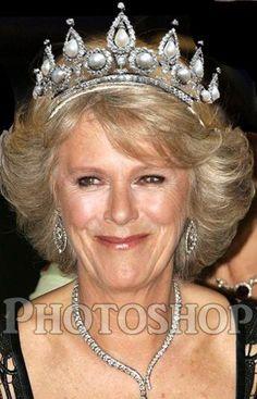 princess charlene of monaco tiara Royal Crowns, Royal Tiaras, Tiaras And Crowns, Royal Jewelry, Jewellery, Bling Jewelry, Royal Monarchy, Prince Charles And Camilla, Prince William