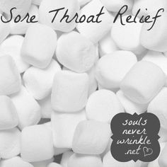 the marshmallow was first made to help relieve a sore throat! Just eat a few of them when your throat is hurting and let them do their magic. I will have to test this! This is quite wondeful! :D