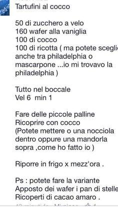 Tartufi cocco bimby