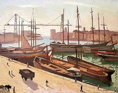 bofransson:    Le port de Marseille, France by Albert Marquet