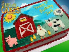 🤠🐣It's a Hee-haw, Moo-tastic, Baa-mazing Farmtastic Birthday!🥳 #farmtastic #birthdaycake #makeawishcakes Hee Haw, Farm Cake, Study Design, Theme Cakes, Make A Wish, Best Memories, Custom Cakes, Yummy Cakes, How To Make Cake
