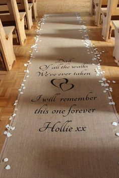 Weddings Discover Personalised Hessian Aisle Runner Popular Quotes most popular wedding quotes Wedding Quotes Wedding Goals Wedding Signs Diy Wedding Fall Wedding Dream Wedding Hessian Wedding Casual Wedding Fun Wedding Songs Wedding Aisles, Aisle Runner Wedding, Fall Wedding, Diy Wedding, Rustic Wedding, Dream Wedding, Hessian Wedding, Casual Wedding, Church Wedding