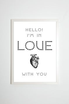 "Illustriertes Typo Plakat ""Love"" / typo artprint ""love"", words by Toechter-aus-Kalterer via DaWanda.com"