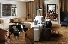 Arcadia House - Cécile & Boyd Mirror balanced by cabinets on each side