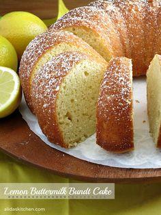 Lemon Buttermilk Bundt Cake   alidaskitchen.com #SundaySupper