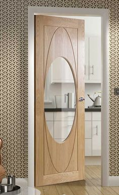 Contemporary Oak Rovigo Clear Glazed #glazeddoors