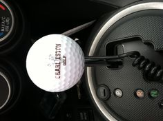 Golf ball gear shift! Re-pinned by www.apebrushes.com. Gifts For Golfers, Golf Gifts, Golf Gadgets, Golf Clothing, Golf Outfit, Golf Ball, Crafts, Ideas, Manualidades