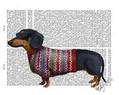 Hey, I found this really awesome Etsy listing at https://www.etsy.com/listing/191231060/dachshund-with-woolly-sweater-dachshund