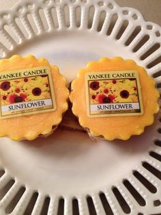 YANKEE CANDLE  SUNFLOWER  WRAPPED TART SWEET SUNFLOWER AROMA NEW SET OF 2 #YankeeCandle