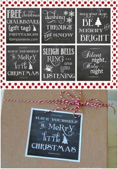 Chalkboard Gift Tags  | Free Printables | simplykierste.com