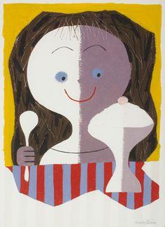 Ice Cream Girl by Mary Blair.