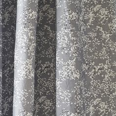 Floral grey curtains and blinds - grey gypsophila fabric for upholstery - Lorna Syson Grey Fabric, Floral Fabric, Grey Curtains, Gypsophila, Home Furnishings, Fabric Design, Poppies, Blinds, Floral Design