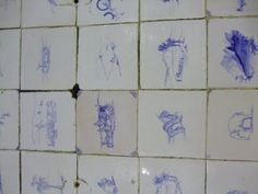 Night of 1000 Drawings, Jozi Park Station Old Concourse. Ink paintings on the tiles, dating back to the Ink Paintings, New Bands, Charity Event, City Art, New Artists, Tiles, Presents, Dating, Park