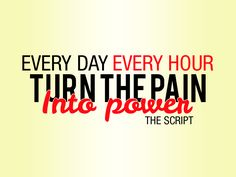 Every day. Every hour. Turn the pain into power. The Script - Superheroes - Lyric