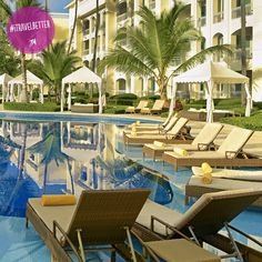Plenty of poolside spots are available at the IBEROSTAR Hotels & Resorts English Grand Hotel Bavaro in #PuntaCana. Tag who you would want sitting next to you and talk to an expert to claim your spot! @iberostarsm
