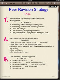 college essay peer revision