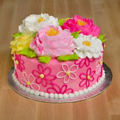 Pretty Cakes, Cute Cakes, Beautiful Cakes, Amazing Cakes, Elegant Birthday Cakes, Cool Birthday Cakes, Mom Cake, Cake Boss, Foto Pastel