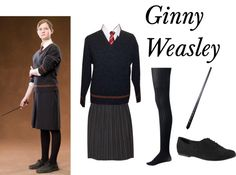 A fashion look from April 2013 featuring blue sweater, asymmetrical skirts and striped stockings. Browse and shop related looks. Harry Potter Welt, Mode Harry Potter, Harry Potter Robes, Harry Potter Ginny Weasley, Harry Potter Girl, Harry Potter Style, Harry Potter Outfits, Snape Harry, Severus Snape