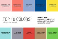 10 tendências de cores anunciadas pela Pantone para a moda primavera verão de 2016